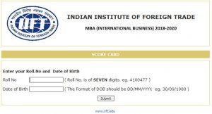 IIFT Scorecard