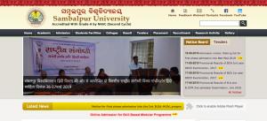 Sambalpur University PG Entrance Test Admit Card 2019 Released