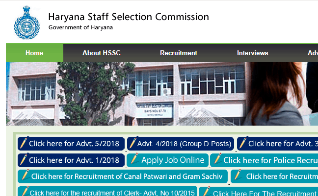 Haryana HSSC PGT 2019 Recruitment