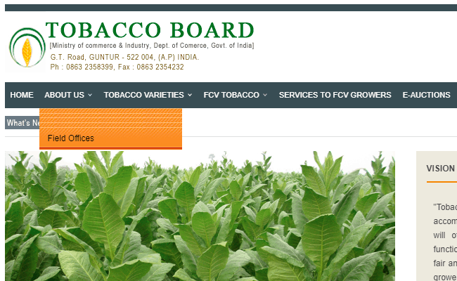 Tobacco Board 2019 Admit Card for Field Officer and Accountant Posts