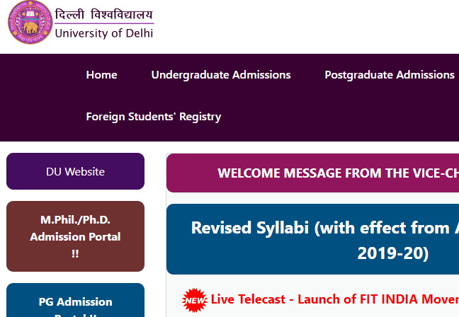 DU 2019 Admissions: Seats Available against Cancellation