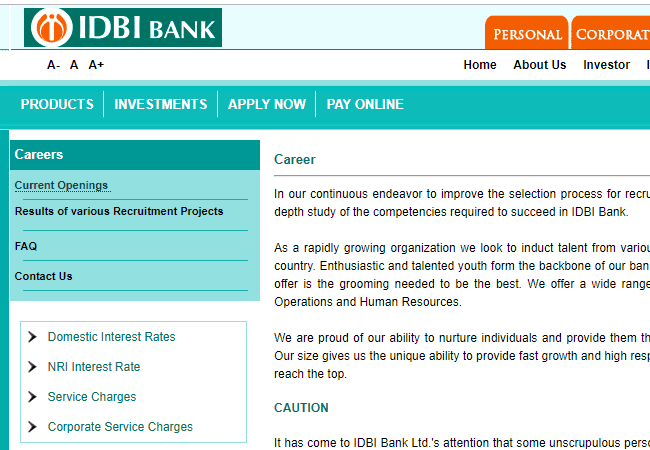 IDBI Assistant Manager 2019 Result