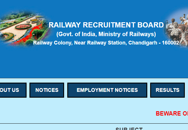 RRB 2019 Recruitment