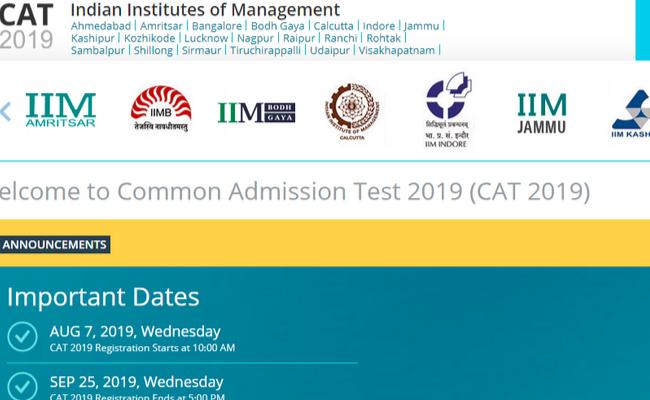 CAT 2019 Registration Process