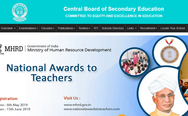Application Forms available for CBSE Board Exam 2020
