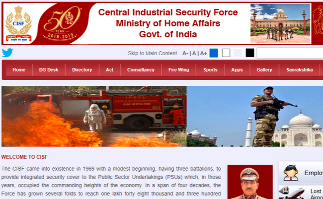 CISF Constable 2019 for 914 Posts