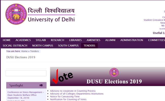 DUSU 2019 Election Results
