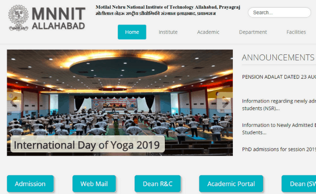 MNNIT Allahabad 2019 Recruitment