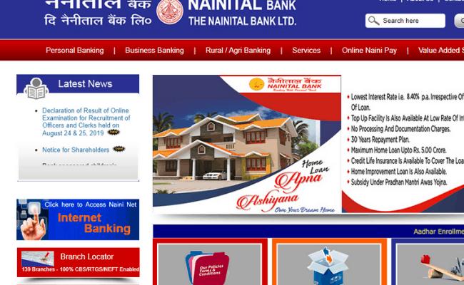 Nainital Bank PO and SO 2019