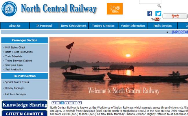 North Central Railway 2019 Recruitment