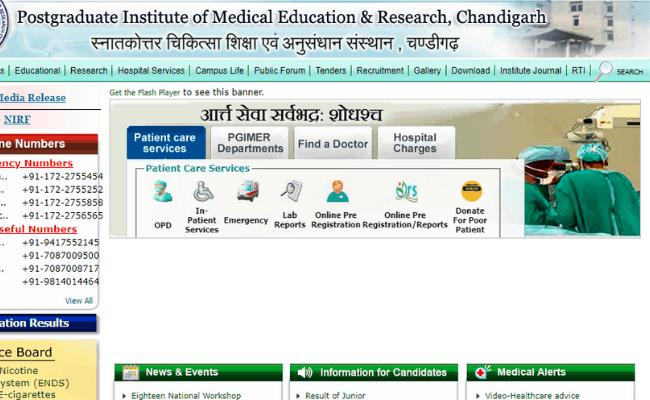 PGIMER Chandigarh 2019 Recruitment for Research Associate