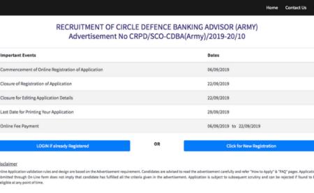 SBI SCO Various Post Online Form 2019