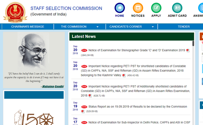 SSC JE 2019 Admit Card Released at ssc.nic.in