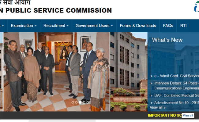UPSC 2019 Recruitment: Apply for General Central Service
