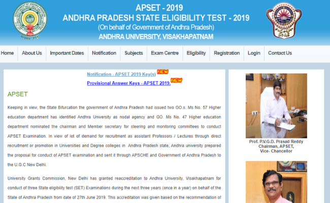 APSET 2019 Answer Key