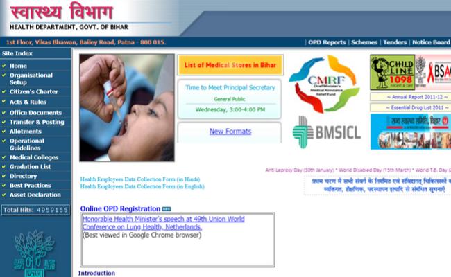 Bihar Health Department 2019 Recruitment: Apply for 183 Sr. Resident Posts