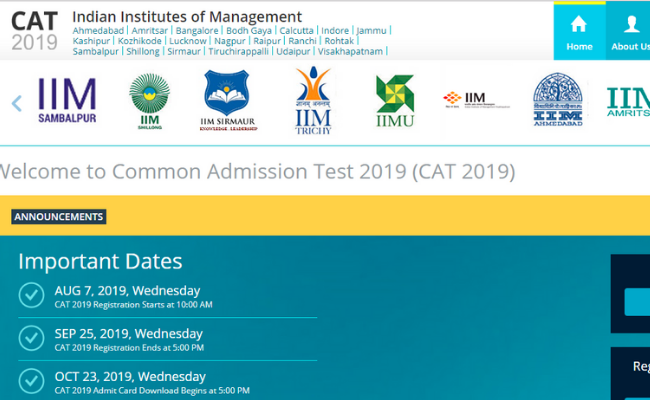 CAT 2019 Admit Card to be Published Tomorrow