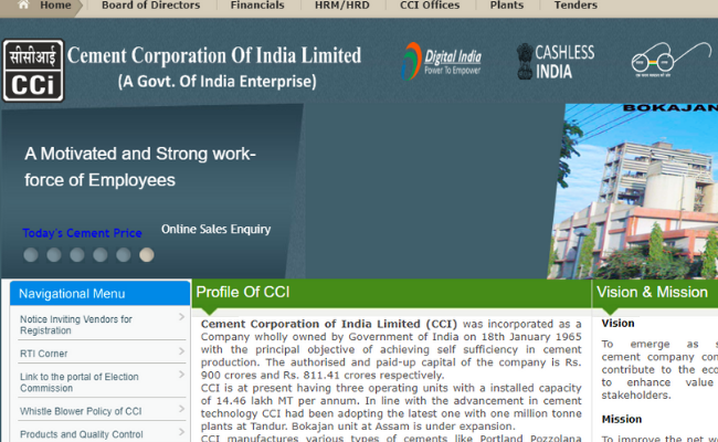 Cement Corporation of India Limited 2019 Recruitment