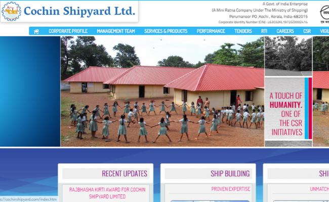 Cochin Shipyard ltd Project Assistants Answer Key 2019