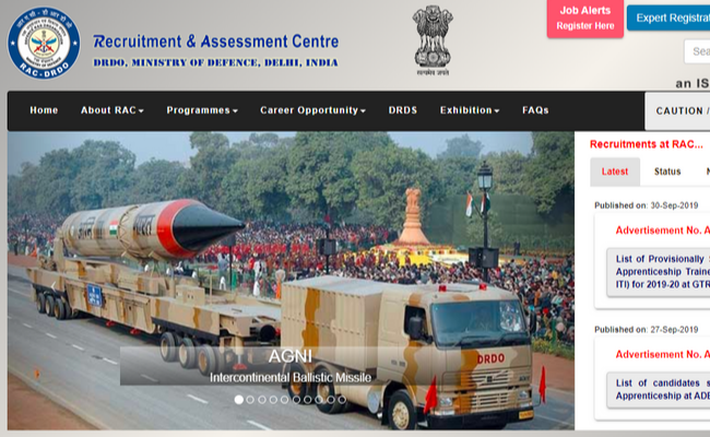 DRDO recruitment 2019 Walk-in-Interview for Research Fellow Posts