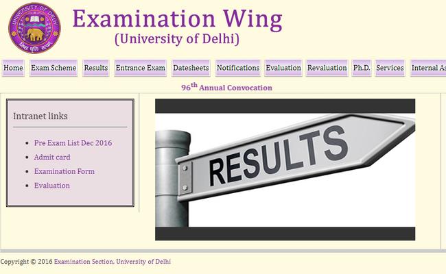 DU Semester Examination 2019