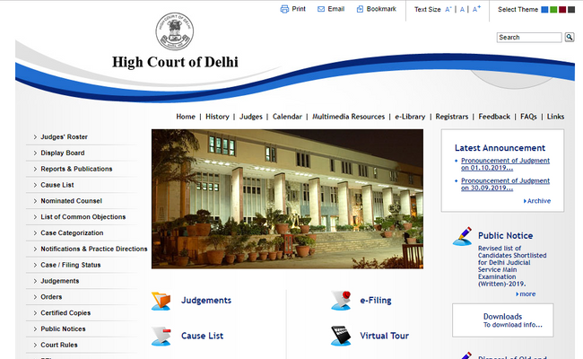 Delhi High Court Exam 2019