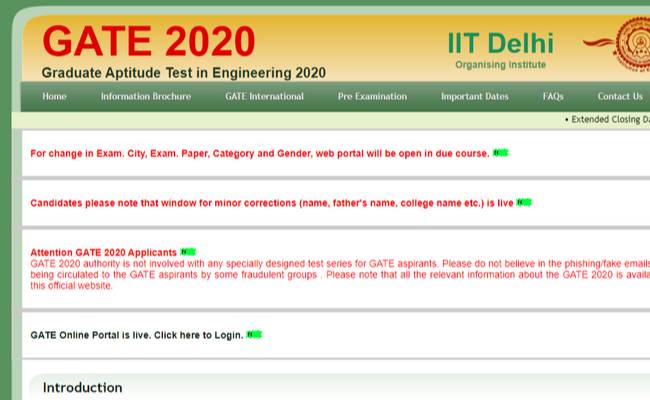 GATE 2020 Important Dates and Computer Science Syllabus