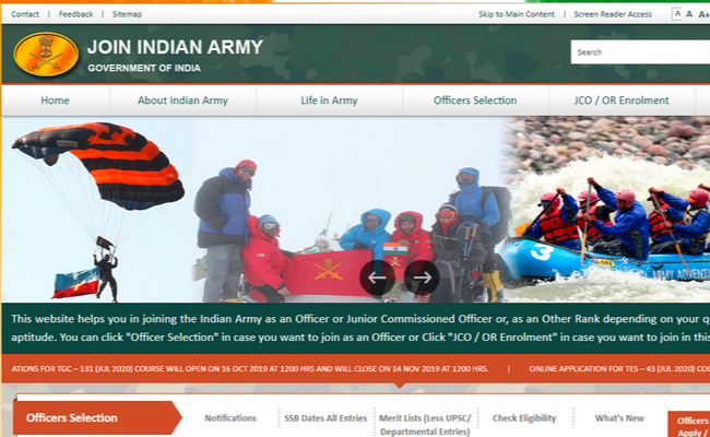 Indian Army 2019 Recruitment