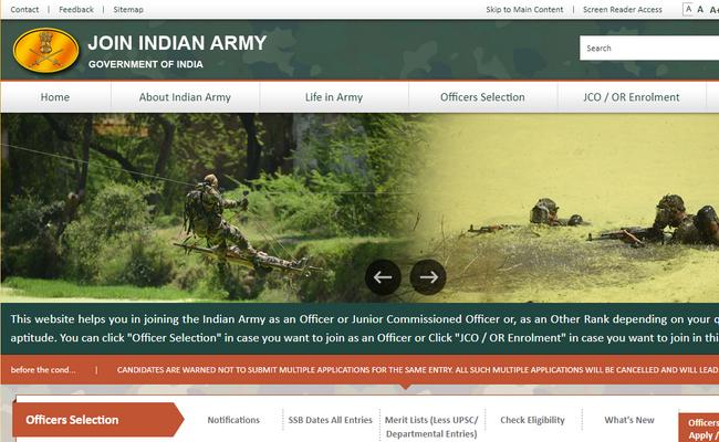 Indian Army TGC TEC Notification