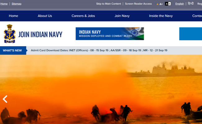 Indian Navy SSR and AA 2019 Result