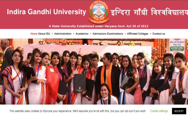 Indira Gandhi University (IGU) Meerpur Result