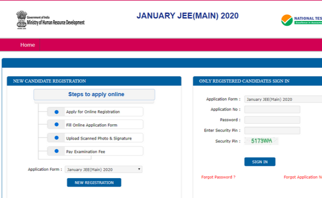JEE Main 2020 Application Form Correction Window