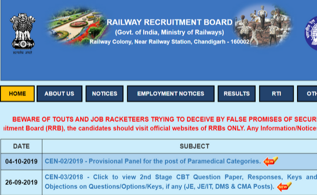 RRB NTPC 2019: Number of Candidates to be Shortlisted