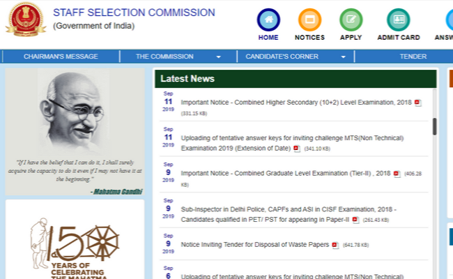 SSC CGL 2019 Recruitment: Check Important Dates on ssc.nic.in