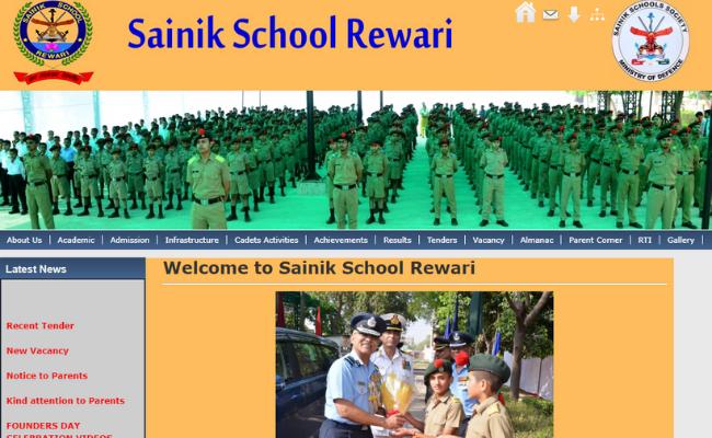 Sainik School Rewari Vacancy 2019