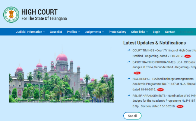 Telangana High Court Admit Card 2019