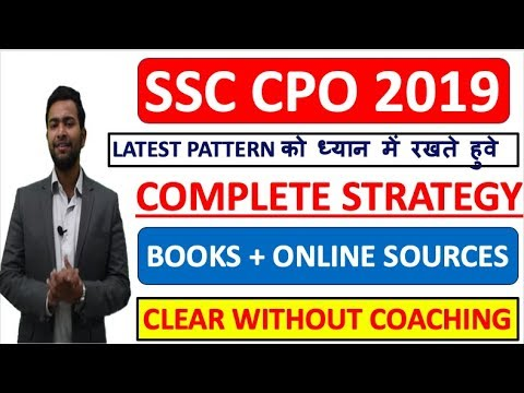 SSC CPO 2019 COMPLETE STRATEGY AND ROUTINE | PREPARE WITHOUT COACHING