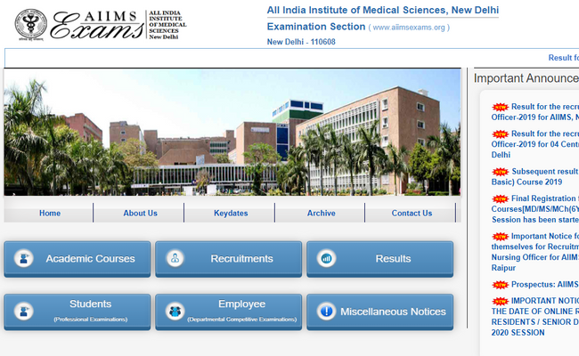 AIIMS PG Result 2019
