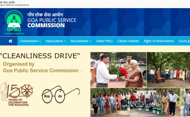 Goa PSC Recruitment 2019