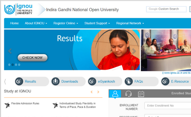 IGNOU January 2020 Admission Process