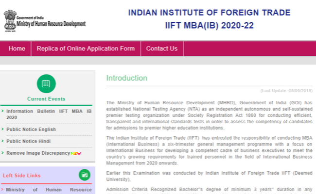 IIFT Exam Registration Date Extended