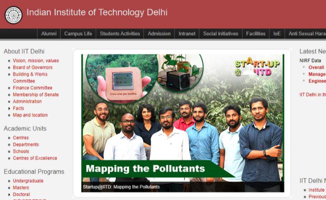 IIT Delhi 2019 Walk-in