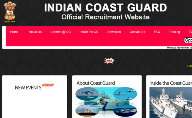 Indian Coast Guard Navik (DB) 10th Entry-01/2020 Batch Admit Card 2019