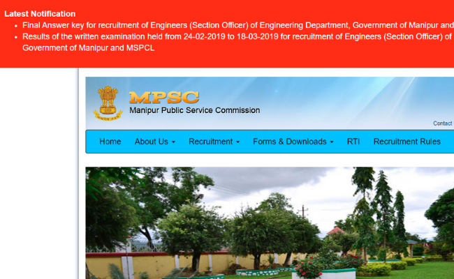 Manipur PSC Section Officer Result and Final Answer Key 2019