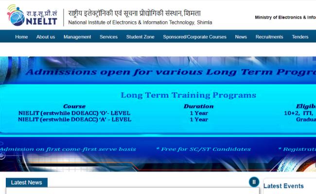 NIELIT Shimla Recruitment 2019