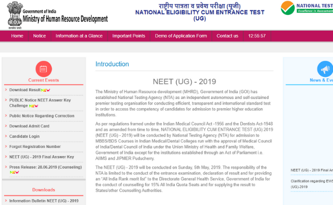 National Testing Agency (NTA) to Release NEET UG 2020 Notification
