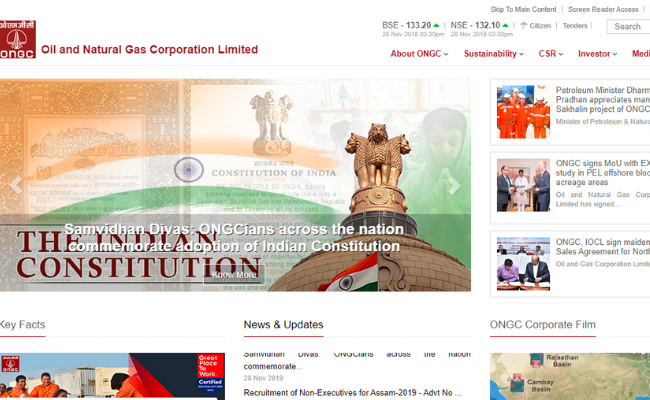 ONGC Result 2019 for Non-Executive Posts