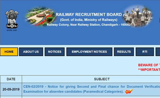 RRB NTPC Exam Date 2019