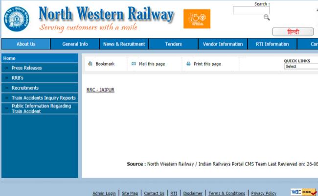 RRC Railway Recruitment 2019