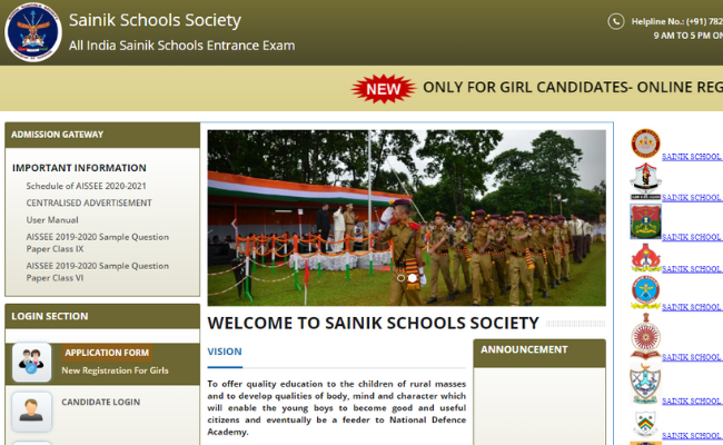 Sanik School Re-Opens Application Window for Girls Candidates